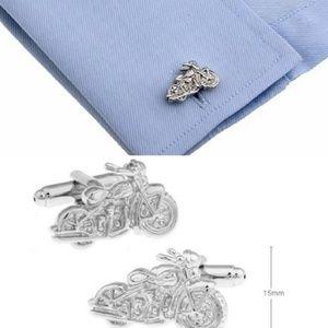 NWOT! Motorcycle Cufflinks in Silver